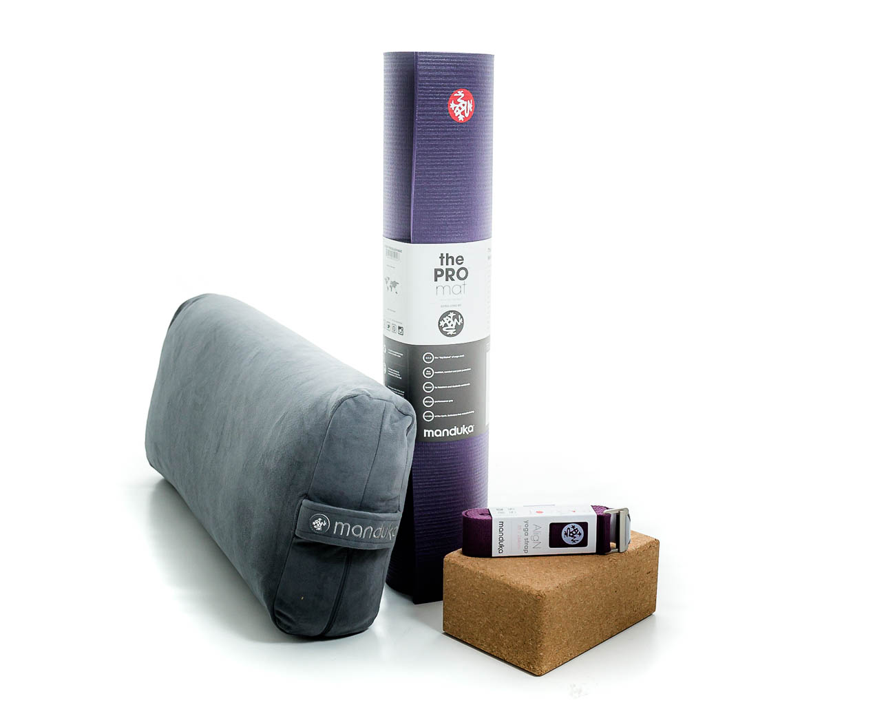 Manduka accessories and props for yoga